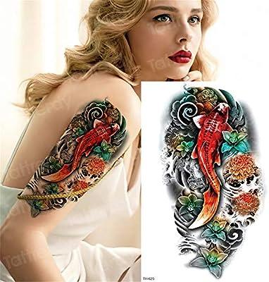 Handaxian 3pcsDurable Tatuaje Animal Cabeza de león Tatuaje Palo ...
