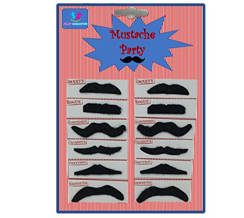 Play Kreative Self Adhesive Fake Mustaches for Halloween Disguise Mustache (Halloween Disguise Ideas)