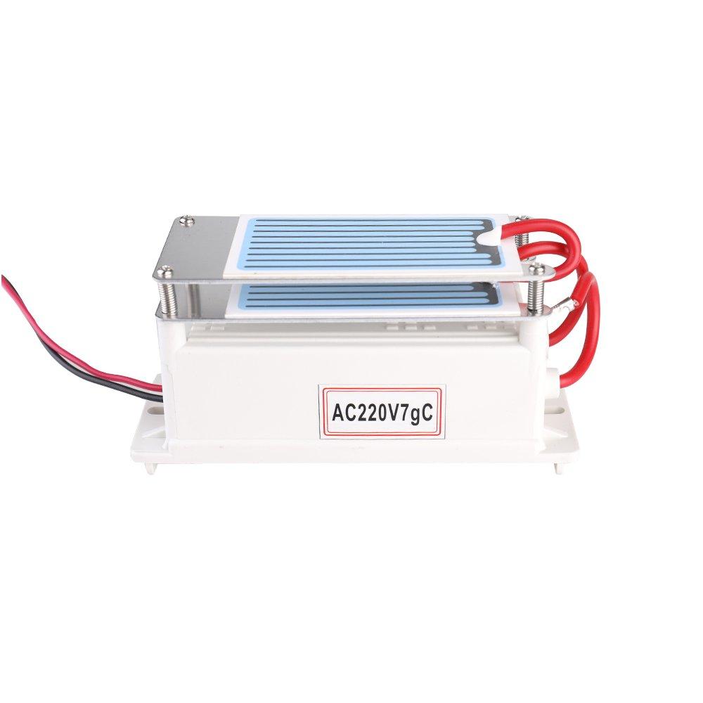 h del ozono integrado del agua del ozonizador del purificador del aire para la f/ábrica qu/ímica KKmoon Generador de cer/ámica port/átil del ozono del generador 7g