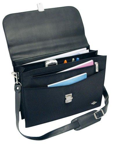 Wedo 0585201 Aktentasche Elegance mit Schultergurt schwarz abschließbares Metallschloss