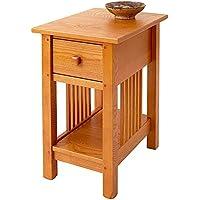 Manchester Wood Mission Side Table - Golden Oak