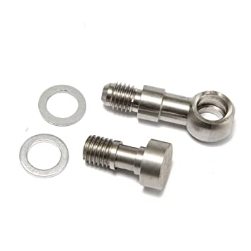 Turbo Kit de tornillo hueco M10 x 1,5 mm a 4 un w/cierre de 1,8 mm aceite alimentación para td04 TD05 TD06: Amazon.es: Coche y moto