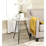 Cheap Safavieh Home Collection Wolcott Mid-Century Modern Taupe and Black Side Table