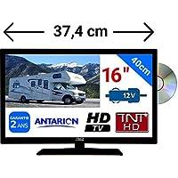 """Combiné DVD TV Camping Car Camion 16"""" 39,6cm LED HD TNTHD 220V 24V 12V"""
