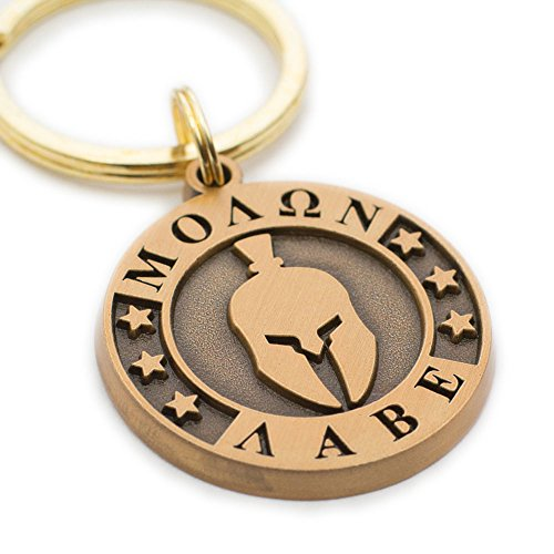 Molon Labe -Come and Take Them Keychain - Support 2nd Amendment Rights ()