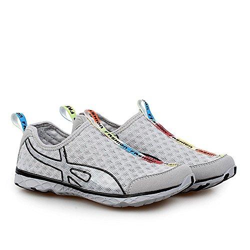 Yuanli Womens Mesh Water Shoes Quick Drying Aqua Shoes Gray rytjmgGZz