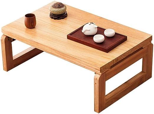 YQJJZX De Estilo japonés Mini Tabla Mesa de Desayuno Balcón Mesa ...