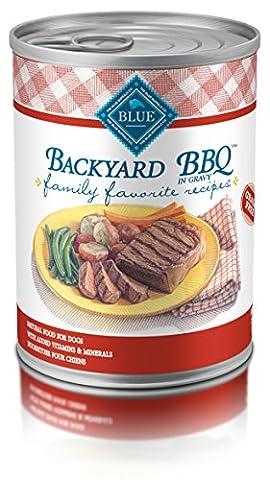 BLUE Family Favorites Adult Backyard BBQ Wet Dog Food 12.5-oz (Pack of 12) (Backyard Beans)