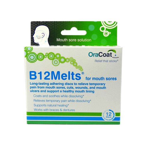 Oracoat H B12 Melts Mouth Sores, 12 Count