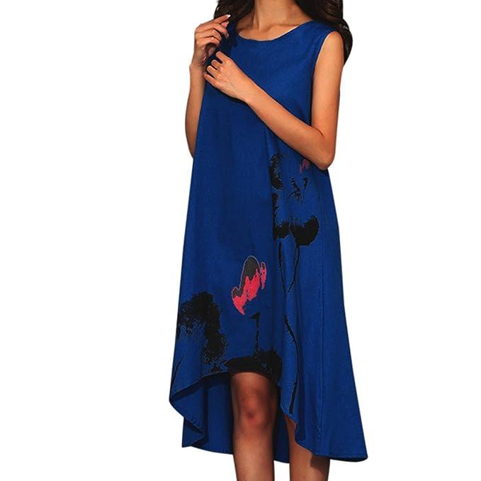 c348932ca5 Vestidos de Fiesta Mujer Cortos Sexy Mosstars Mangaless Boho Mujeres Moda  impresión Faldas Tinta Suelta Gran