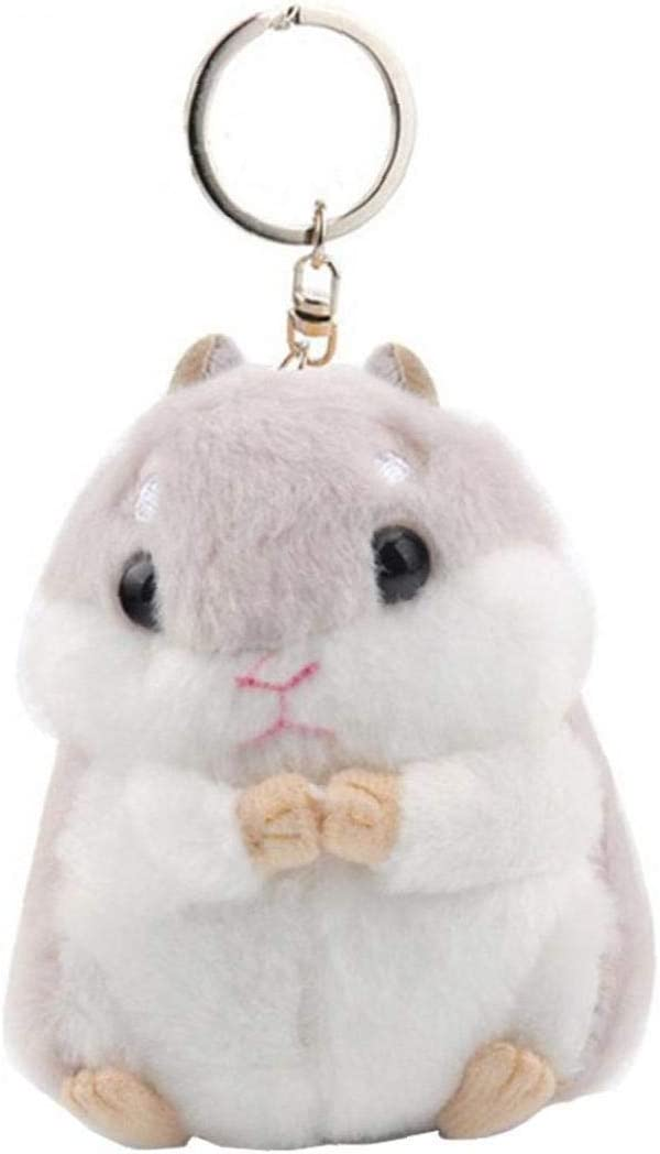 Mini Hamster Llaveros Llavero del Conejo del Faux Fur Titular Pompom mullidas baratijas de Coches Bolso Colgante Anillo Chian Clave