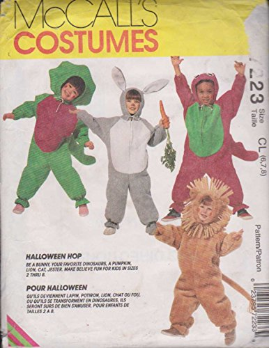 Halloween Costume Pattern McCall's Craft Sewing Pattern 7223 Size CL: 6-7-8