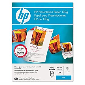 Amazon Com Hp Color Laser Glossy Presentation Paper 97