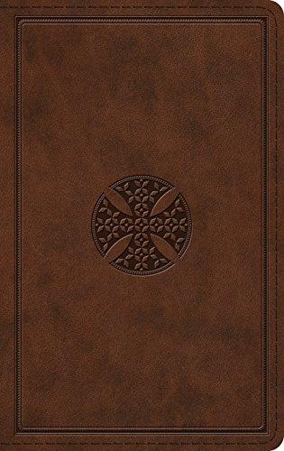 The Holy Bible: English Standard Version, Thinline, Trutone, Brown, Mosaic Cross Design