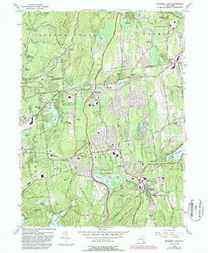 Mohegan Lake NY topo map, 1:24000 scale, 7.5 X 7.5 Minute, Historical, 1956, updated 1987, 26.8 x 22 IN - - Ny Jefferson Valley Map
