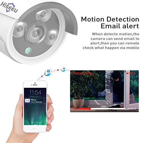XWEM Cámara Inalámbrica, HD 8CH NVR 1080P PoE Cámara CCTV Sistema Kit De 8 MP Al Aire Libre Cámara IP Impermeable PoE Inicio Seguridad Video Vigilancia ...