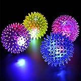 Jooks LED Dancing Bounce Ball Flashing Light Jumping Music Spike Bouncing Toy