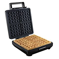 You don't need to go out for Sunday brunch to have fluffy, restaurant-style Belgian waffles. They take just minutes to make at home with the Proctor Silex durable Belgian waffle maker. Nonstick grids make four waffles at a time.