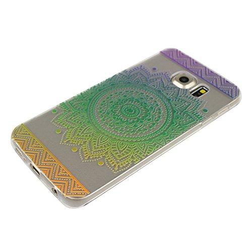 Galaxy S6 Edge Case, Asnlove 5.1 pulgadas Carcasa TPU Silicona Bumper Shock-Absorción Slim Silicon Funda Trasera Back Cover Phone Shell Protector Funda Para Samsung Galaxy S6 Edge G9250 Totem-9