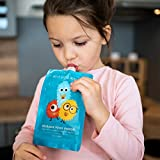 Hello Little Monsters Reusable Squeeze Baby Food Pouch Small - 4 oz (6 Pack)