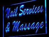 ADV PRO j138-b Nail Services & Massage Shop Neon Light Sign