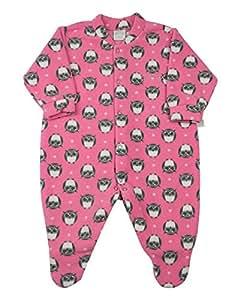 Macacão Pijama Bebê Microsoft Estampado - Rosa M