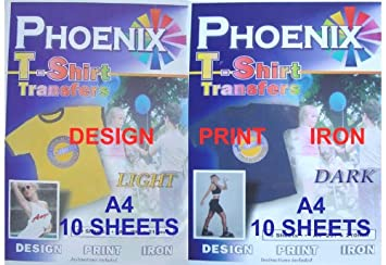 a4 size iron on t shirt transfer paper for white light and black