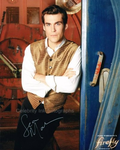 SEAN MAHER as Dr. Simon Tam - Serenity/Firefly Genuine Autograph from Celebrity Ink