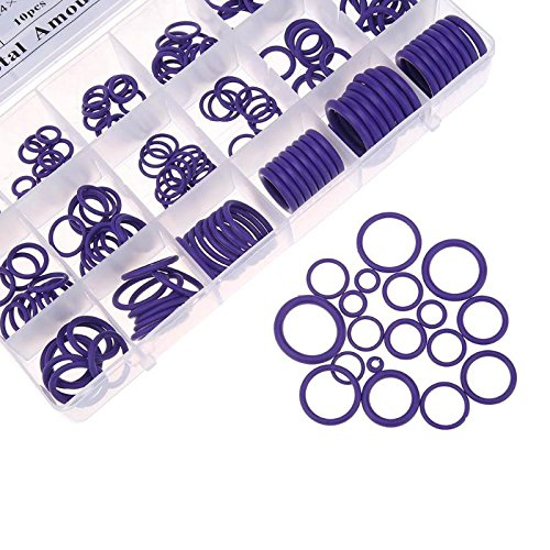 225-Piece 18 Sizes O-Ring Kit Rubber Industrial Grade Universal Washer Seals Assortment Sealing Gasket Set for Insulation Gasket Washer Seals Faucet Shower Head/Caddy Car Vehicle Replacement Repair