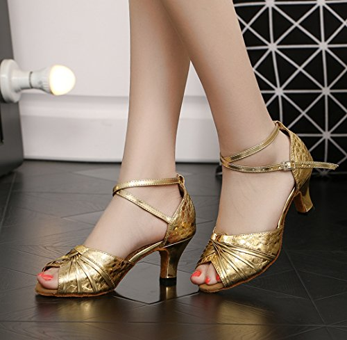 Gold Mujer 6cm Style3 Sintético de Joymod Heel Contempóraneo MGM Jazz Y T4gAqc8P