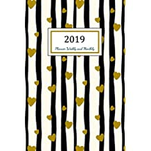 2019 Planner Weekly and Monthly: A Year - 365 Daily - 52 Week journal Planner Calendar Schedule Organizer Appointment Notebook, Monthly Planner, To do list, Action Day Passion Goal Setting Happiness Gratitude Book | Gold Heart Cover