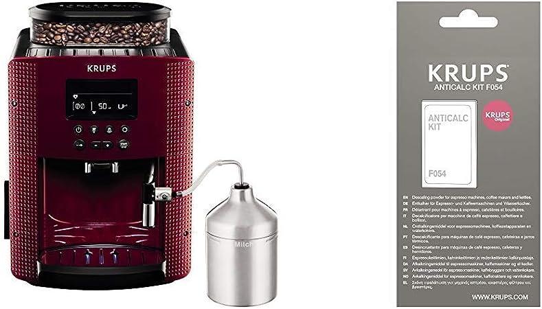 Krups Compact Cappucino EA816570 - Cafetera Superautomática 15 Bares, Pantalla LCD, 3 Niveles Intensidad de 20 ml a 220 ml + F0540010 Kit descalcificación, Plastic: Amazon.es: Hogar