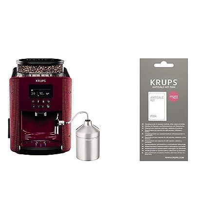 Krups Compact Cappucino EA816570 - Cafetera Superautomática 15 Bares, Pantalla LCD, 3 Niveles Intensidad de 20 ml a 220 ml + F0540010 Kit ...