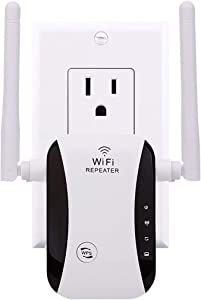 【2020 Upgraded 】 Wireless WiFi Range Extender with Up to 300Mbps High Speed WiFi Signal Booster Ideal for Home Office Gaming & HD Video Streaming Works Great with Any Routers