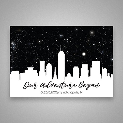 Custom Personalized Skyline Star Constellation Map, Star Chart, Choose Your Occasion, Custom Engagement Anniversary Birthday Baby Present, Cool Gift Idea, Night Sky Poster 13x19