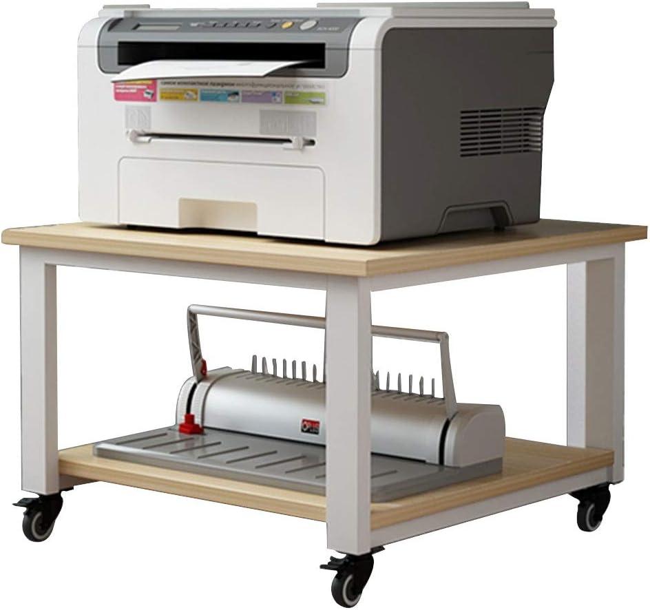 テーブルの下にプリンター棚リビングルーム携帯電子レンジオーブンフロア収納ラックプリンターラックキッチン仕上げラック (Color : White, Size : 40*40*30cm)