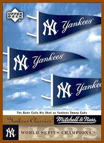 (2004 UD Upper Deck Yankees Classics Mitchell and Ness Cards #4 1932 World Series NEW YORK YANKEES)
