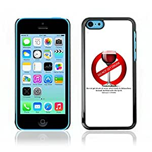 Estilo CALIENTE teléfono móvil PC carcasa//V0000352Biblia: no emborracharse en vino//iPhone 5C