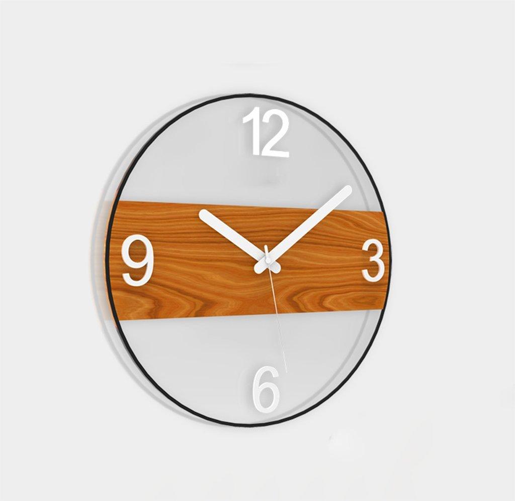 木製壁掛け時計、Natood北欧のシンプルなポストモダニズム的な円形の壁時計のレストランのリビングルームの無言の壁掛け時計ホームdecration、白、電池なしで,40Cm B07CZ9JTPZ40cm