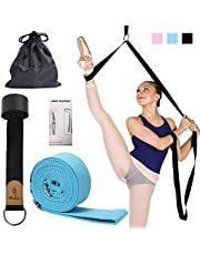 EASTBUDDY Ballet Stretch Band,Door Flexibility & Stretching Leg Strap Stretch Band with Carrying Pouch for Yoga, Ballet, Dance and Gymnastic Exercise