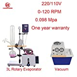 Hot Sales 3L BHO Distillation Rotary Evaporator with Vacuum Pump