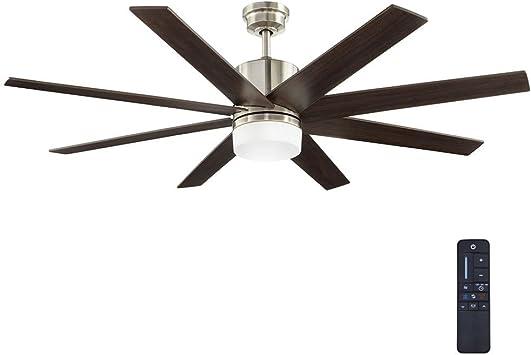 60 en. ZOLMAN Pike LED DC níquel cepillado ventilador de techo con mando a distancia: Amazon.es: Bricolaje y herramientas