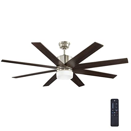 Home Decorators Collection 60 In Zolman Pike Led Dc Brushed Nickel Ceiling Fan With Remote Com
