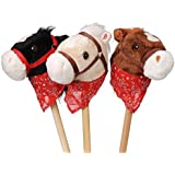 Gift Corral Plush Stick Horses with Bandanna