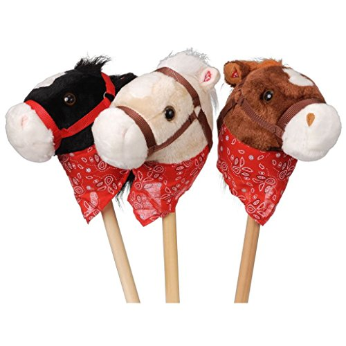 Gift Corral Plush Stick Horses with Bandanna by JT International