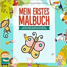 Malbuch ab 4 Jahren Mit bunten Malvorlagen Broschüre Deutsch 2018 Mal- & Zeichenmaterialien für Kinder Bastel- & Kreativ-Bedarf für Kinder