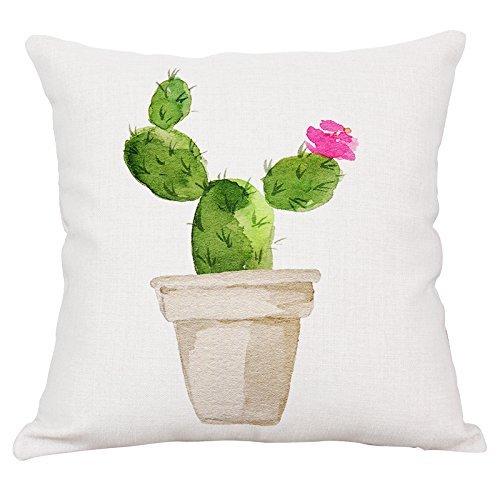 Arce & Home Custom Cactus Blossom patrón Fundas de Almohada ...