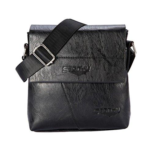 Price comparison product image Tote Bag, Clearance! AgrinTol Men Fashion Business Handbag Shoulder Bag Tote Flap Chest Bag (Black)