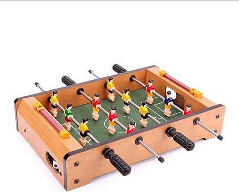JUN GUANG Mini futbolín de Madera Mini futbolín Mesa de Madera de ...