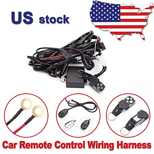 Headlight Control Relay - Primeprolight Remote Control Wiring Harness Kit 12V 40 Amp Relay ON-OFF-Strobe Remote Control Switch for 6